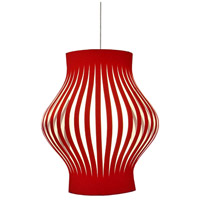 Dainolite Toro 4 Light Foyer Fixture in Steel with Red Shade TOR-304P-RD