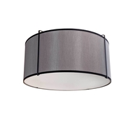Dainolite TRA-121FH-BK-GRY Trapazoid 2 Light 12 inch Black Flush Mount Ceiling Light