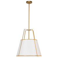 Trapazoid 1 Light 18 inch Gold Pendant Ceiling Light