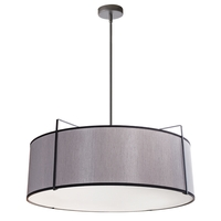 Dainolite Black Fabric Trapazoid Pendants