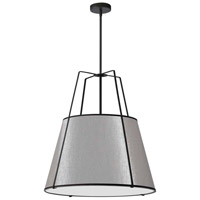 Trapazoid 3 Light 24 inch Matte Black Pendant Ceiling Light