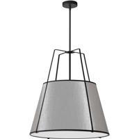 Dainolite TRA-3P-BK-GRY Trapazoid 3 Light 24 inch Matte Black Pendant Ceiling Light