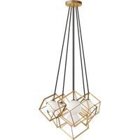 Dainolite TSN-6P-GLD Thomson 6 Light 14 inch Gold Pendant Ceiling Light