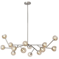 Tanglewood 14 Light 14 inch Satin Chrome Chandelier Ceiling Light