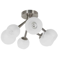 Dainolite TWD-166SF-SC Tanglewood 6 Light 17 inch Satin Chrome Semi Flushmount Ceiling Light