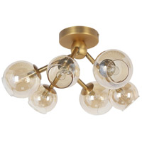 Vintage Bronze Glass Semi-Flush Mounts