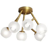 Dainolite Tanglewood 6 Light Semi Flush in Vintage Brandze TWD-176SF-VB