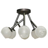 Dainolite Tanglewood 6 Light Semi Flush in Vintage Steel TWD-176SF-VS