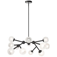 Dainolite TWD-4012C-MB-FR Tanglewood 12 Light Matte Black Chandelier Ceiling Light thumb