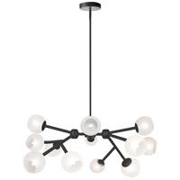 Dainolite TWD-4012C-MB-FR Tanglewood 12 Light Matte Black Chandelier Ceiling Light