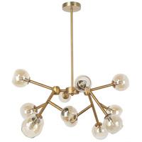 Dainolite TWD-4012C-VB Tanglewood LED 25 inch Vintage Bronze/Champagne Chandelier Ceiling Light