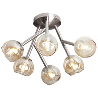 Dainolite Tanglewood 6 Light Semi Flush in Satin Chrome TWD-617SF-SC
