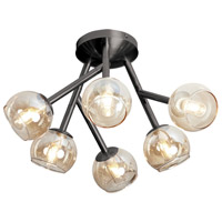 Dainolite Tanglewood 6 Light Semi Flush in Vintage Steel TWD-617SF-VS