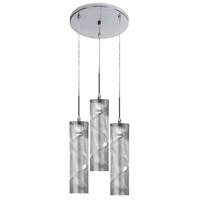Dainolite Umbra 3 Light Pendant in Polished Chrome UM-12RP-PC