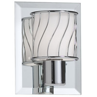Dainolite Lighting Frosted Glass 1 Light Vanity in Polished Chrome  V010-1W-PC