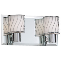 Dainolite Lighting Frosted Glass 2 Light Vanity in Polished Chrome  V010-2W-PC