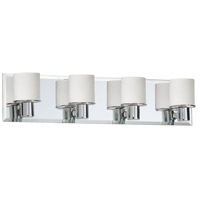 Dainolite Lighting Frosted Glass 4 Light Vanity in Polished Chrome  V020-4W-PC photo thumbnail