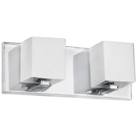Dainolite Lighting Frosted Glass 2 Light Vanity in Polished Chrome  V1230-2W-PC