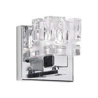 Dainolite Lighting Clear Crystal 1 Light Vanity in Polished Chrome  V1232-1W-PC