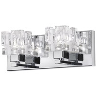 Dainolite Lighting Clear Crystal 2 Light Vanity in Polished Chrome  V1232-2W-PC photo thumbnail