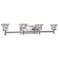 Dainolite V144-4W-PC Signature 4 Light 30 inch Polished Chrome Vanity Wall Light thumb