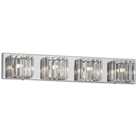 Signature 4 Light 26 inch Clear and Polished Chrome Vanity Wall Light