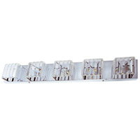 Signature 5 Light 32 inch Clear and Polished Chrome Vanity Wall Light