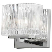 Dainolite V1620-1W-PC Signature LED 5 inch Polished Chrome and Clear Sconce Wall Light in 1