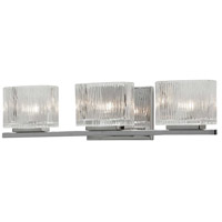Signature 3 Light 20 inch Polished Chrome and Clear Vanity Wall Light