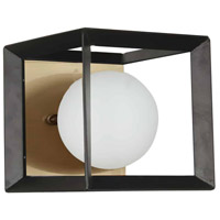 Dainolite V166-1W-BK-AGB Signature 1 Light 6 inch Black and Aged Brass Wall Sconce Wall Light