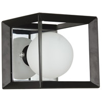 Dainolite V166-1W-BK-PC Signature 1 Light 6 inch Black and Polished Chrome Wall Sconce Wall Light