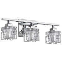 Dainolite Katarina 3 Light Vanity in Polished Chrome with Clear and Frosted Glass V23-3W-PC