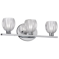 Floral 3 Light 17 inch Polished Chrome Vanity Wall Light