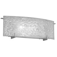 Frosted Bubble 1 Light 12 inch Satin Chrome Vanity Wall Light