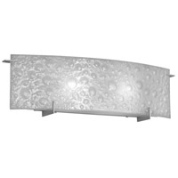 Dainolite Frosted Bubble 2 Light Vanity in Satin Chrome V35-2W-SC