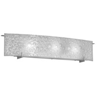 Frosted Bubble 3 Light 33 inch Satin Chrome Vanity Wall Light