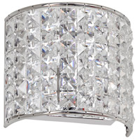 Dainolite Lighting Crystal 1 Light Vanity in Polished Chrome  V677-1W-PC