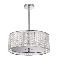 Dainolite Lighting Crystal 5 Light Chandelier in Polished Chrome  V678P-PC