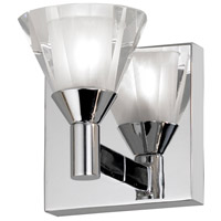 Dainolite Lighting Frosted Crystal 1 Light Vanity in Polished Chrome  V686-1W-PC
