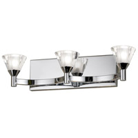 Dainolite Lighting Frosted Crystal 3 Light Vanity in Polished Chrome  V686-3W-PC