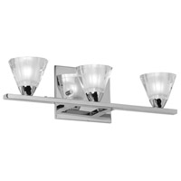 Dainolite V689-3W-PC Signature 3 Light 17 inch Polished Chrome Vanity Wall Light