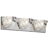 Dainolite Signature 3 Light Vanity in Polished Chrome with Optical Crystals V822-3W-PC