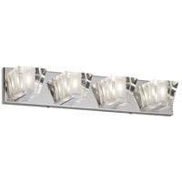 Signature 4 Light 24 inch Polished Chrome Vanity Wall Light