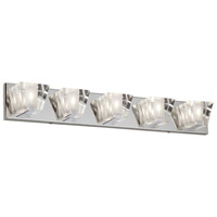 Dainolite V822-5W-PC Signature 5 Light 31 inch Polished Chrome Vanity Wall Light