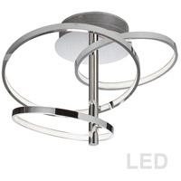 Dainolite VAL-253SF-PC Valarie LED 16 inch Polished Chrome Semi-Flushmount Ceiling Light