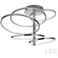 Dainolite VAL-285SF-PC Valarie LED 21 inch Polished Chrome Semi-Flushmount Ceiling Light thumb