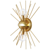 Dainolite VEG-102W-GLD-VB Vega LED 12 inch Gold and Vintage Bronze Wall Sconce Wall Light