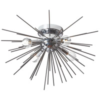 Dainolite VEG-184FH-BK-PC Vega LED 18 inch Black and Polished Chrome Flush Mount Ceiling Light