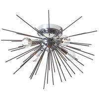 Dainolite VEG-184FH-BK-PC Vega LED 18 inch Black and Polished Chrome Flush Mount Ceiling Light