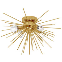 Dainolite VEG-184FH-GLD-VB Vega LED 18 inch Gold and Vintage Bronze Flush Mount Ceiling Light